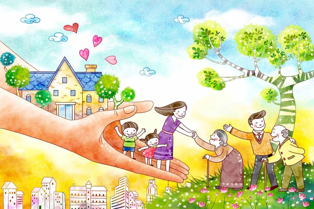 幼儿园画报 文明礼仪卡通
