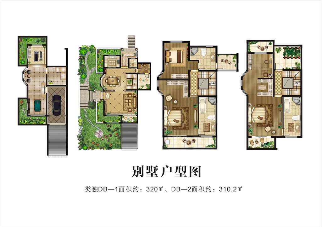 别墅户型图模板下载(图片编号:12664994)
