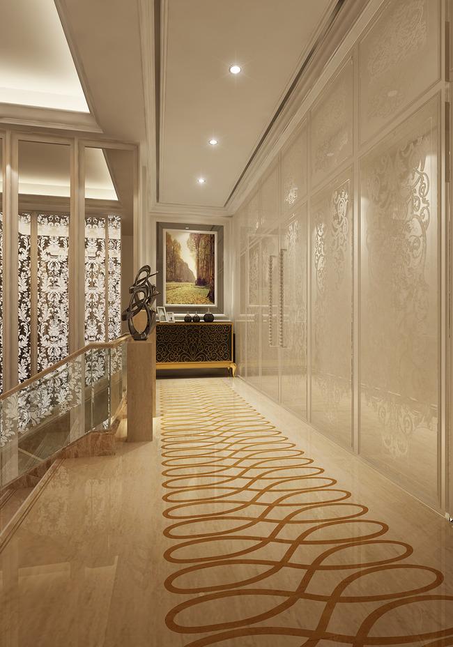 欧式走廊整套3d模型附灯光贴图图片下载