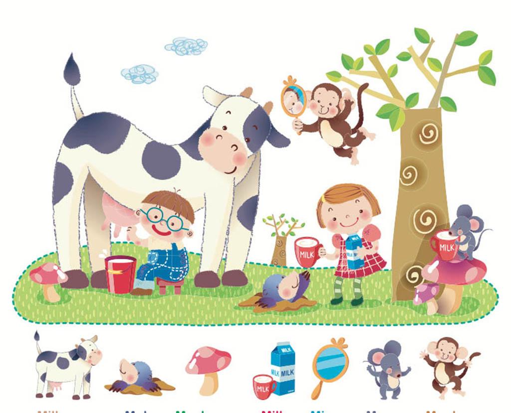 幼儿手册 简单的手抄报花边边框  幼儿园画报 文明礼仪卡通 环保科技