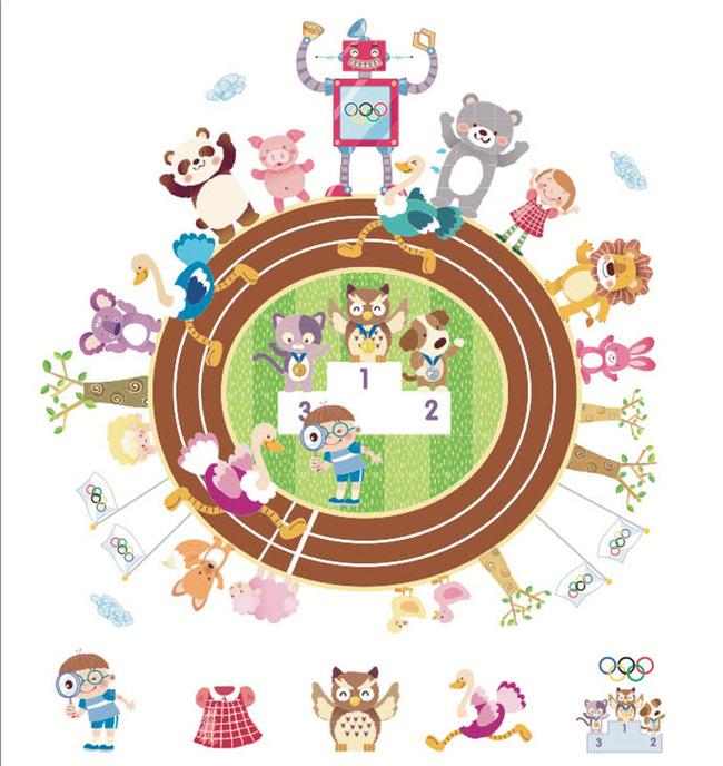 小动物运动会儿童绘本