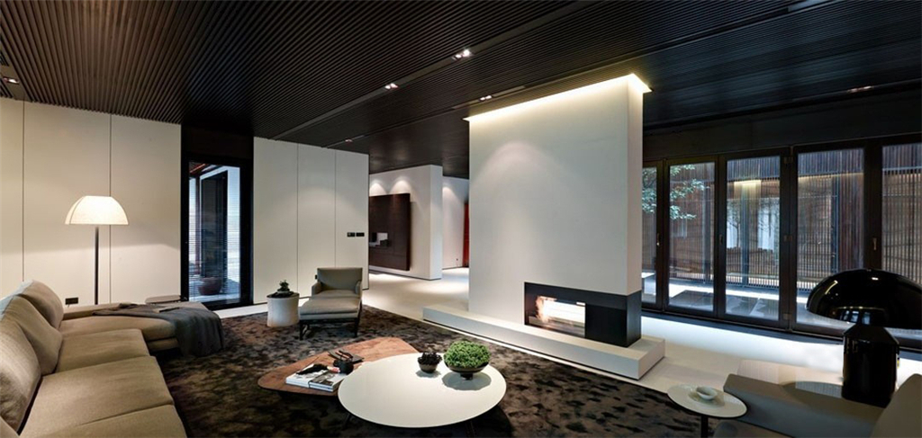 极简客厅设计3d模型