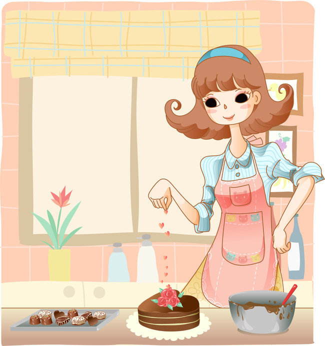 卡通妈妈卡通厨房