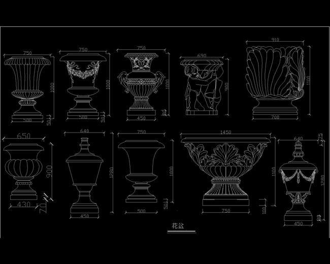 室内设计欧式壁炉罗马柱浮雕cad图库