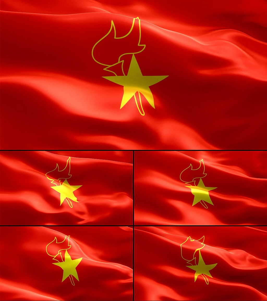 手绘公司扩展队旗