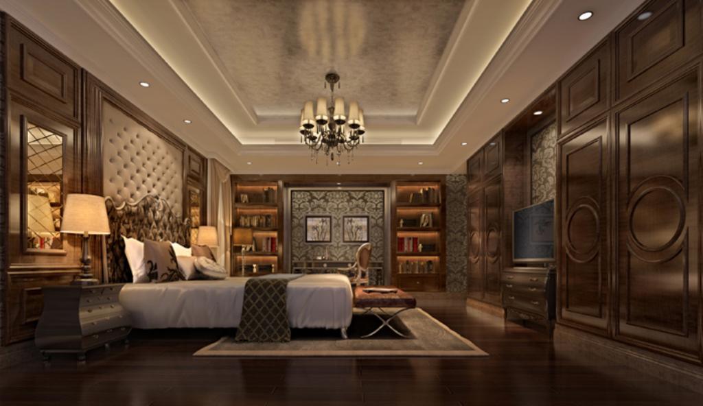 3dmax欧式风格卧室模型图片下载图片