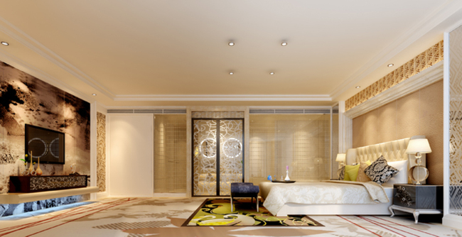 3dmax现代简约温馨卧室图片下载图片