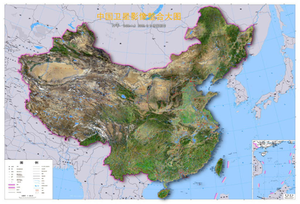 中国卫星地图模板下载(图片编号:12674530)_中国地图