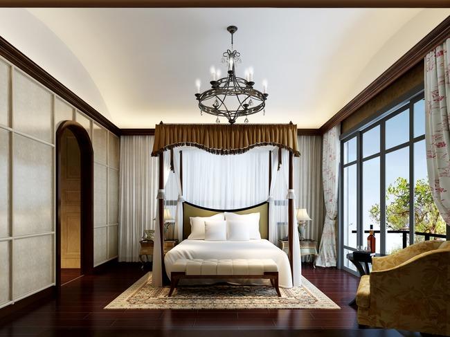 3dmax欧式风格卧室宽敞图片