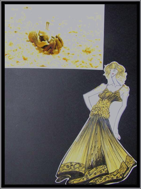 礼裙设计手稿模板下载 礼裙设计手稿图片下载 裙子设计灵感来源于沙滩