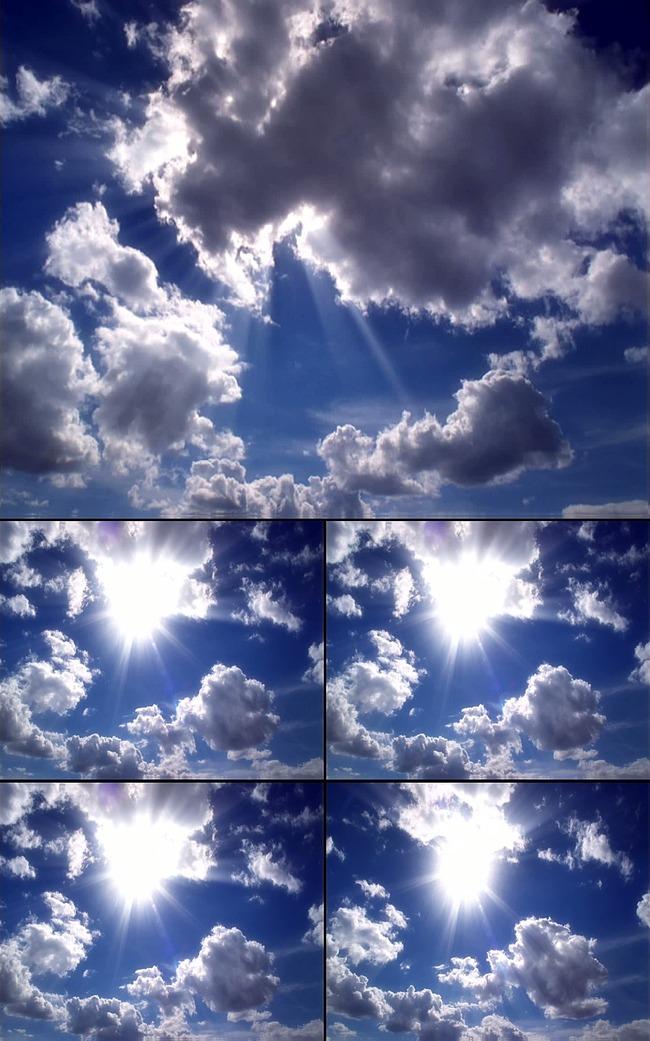 高清蓝天白云动态视频模板