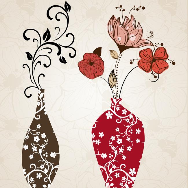 背景墙|装饰画 无框画 植物花卉无框画 > 欧美手绘花瓶无框画  下一张