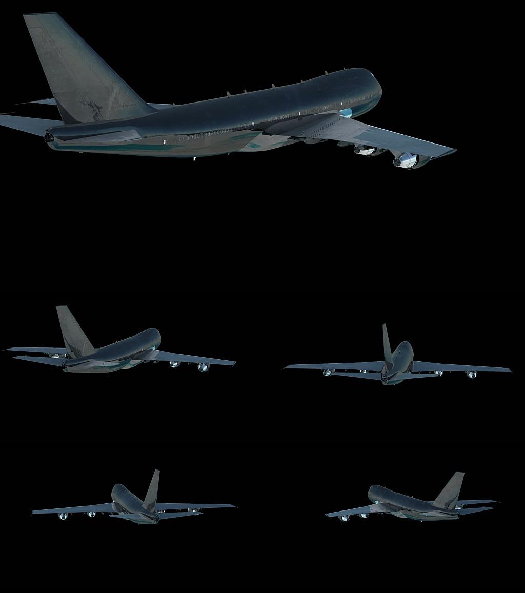 3d飞机飞行视频制作高清素材下载模板下载