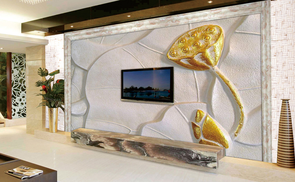 客厅电视背景墙高清图片下载(图片编号12687055)浮雕