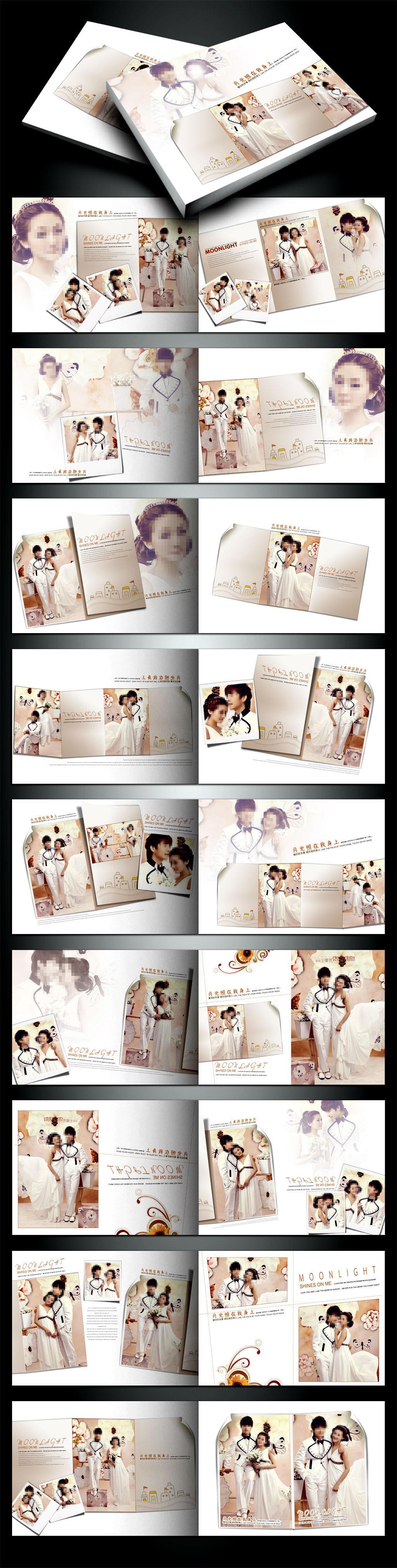 婚纱摄影公司画册相册模板