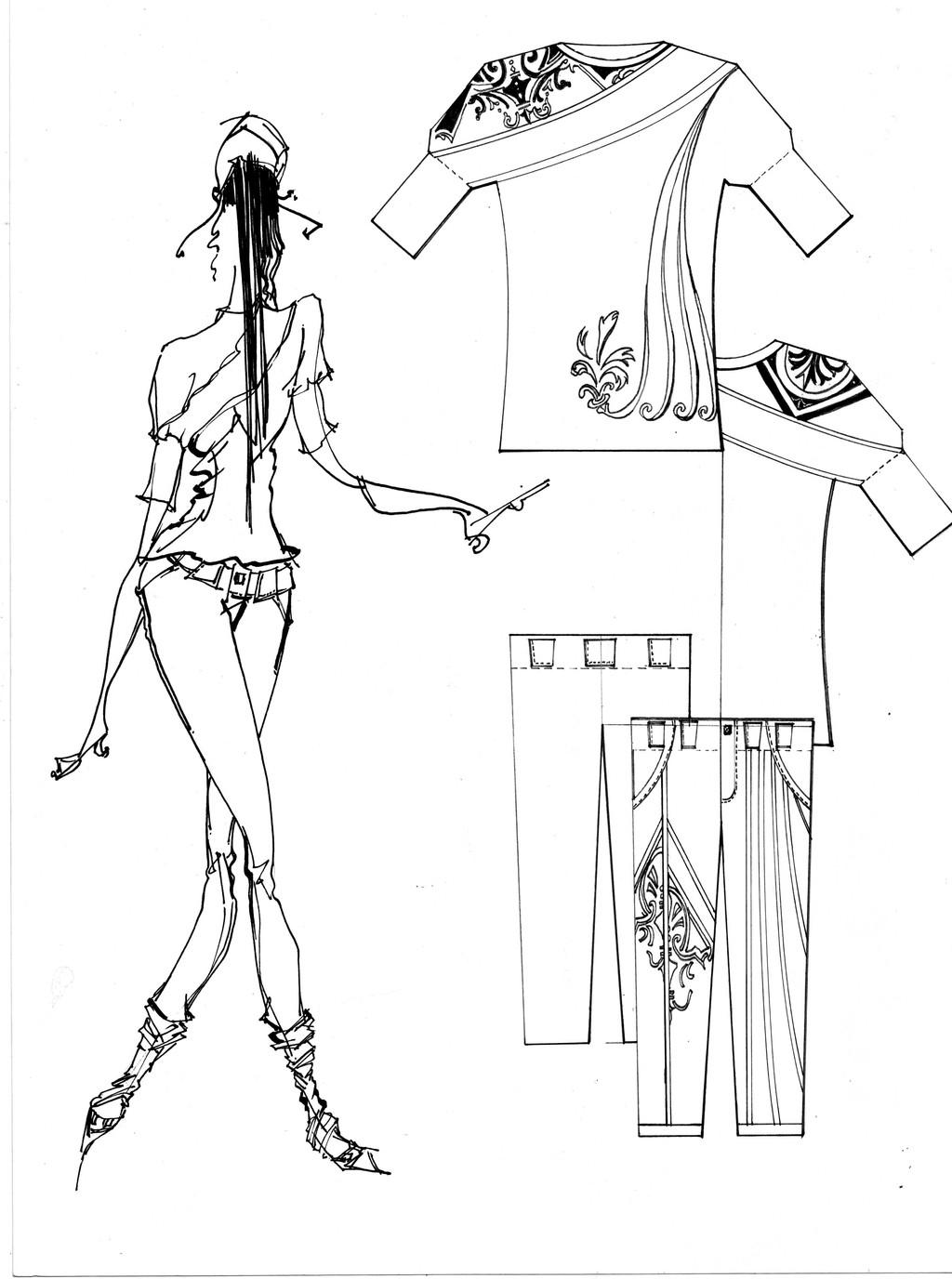 服装设计效果图2