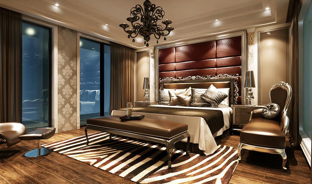 豪华欧式宾馆酒店客房3d模型