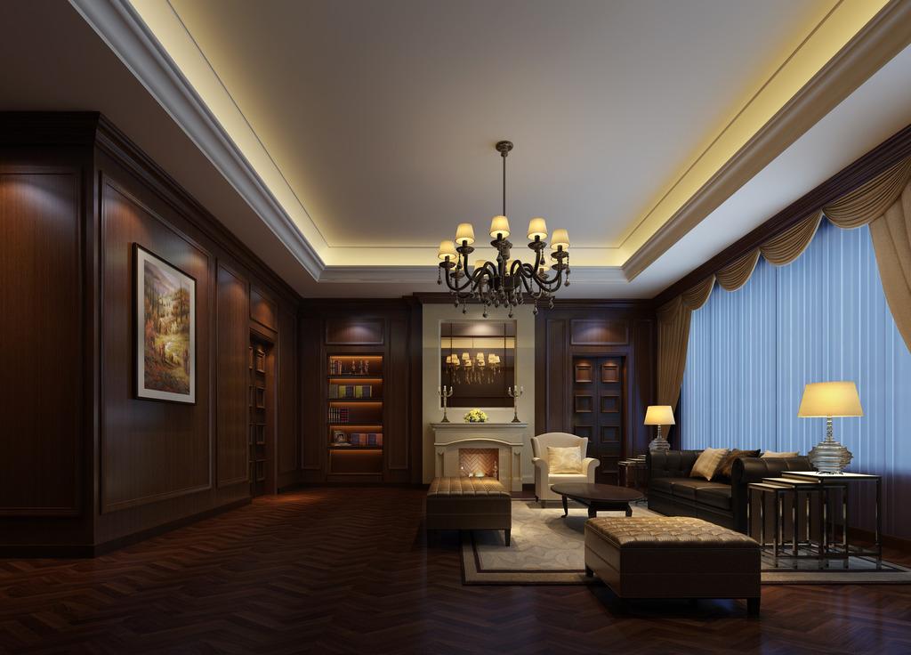 客厅3dmax欧式风格暖色调