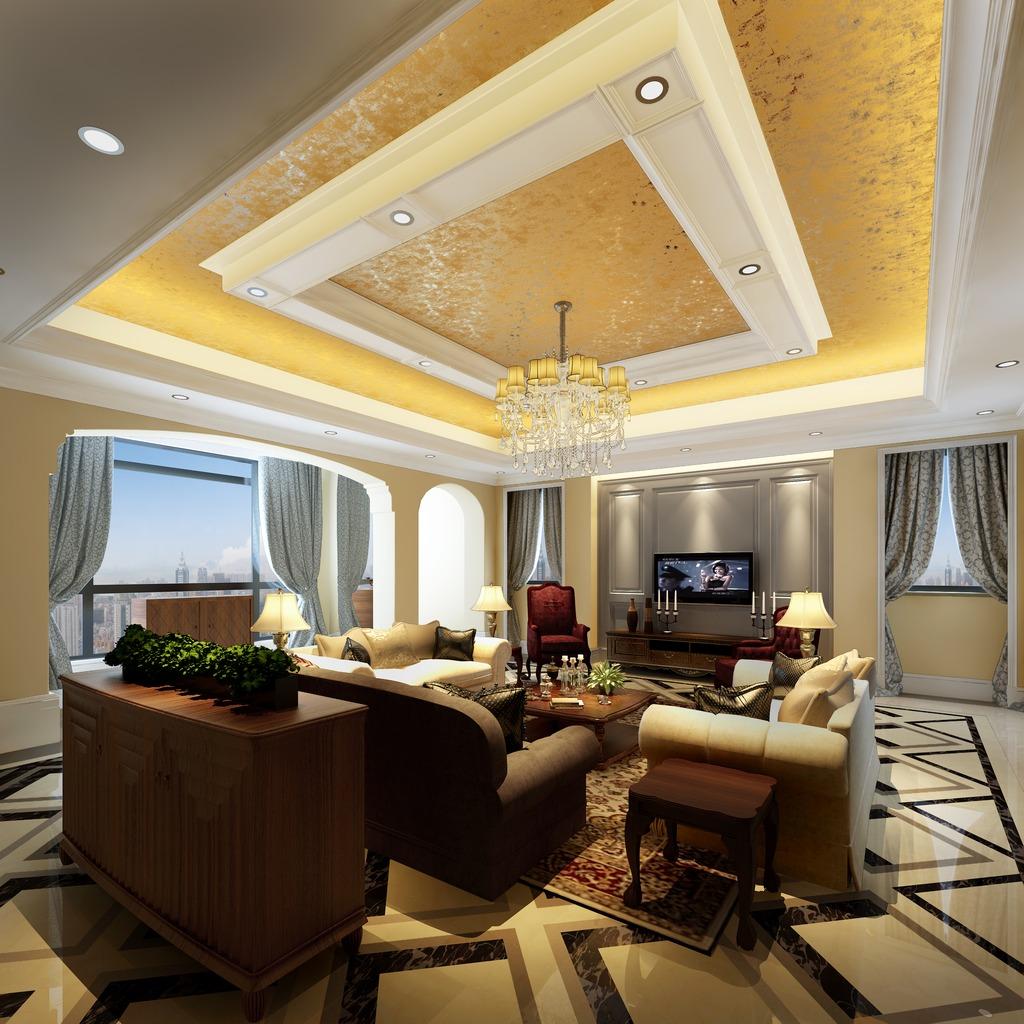 3dmax欧式风格别墅客厅3图片