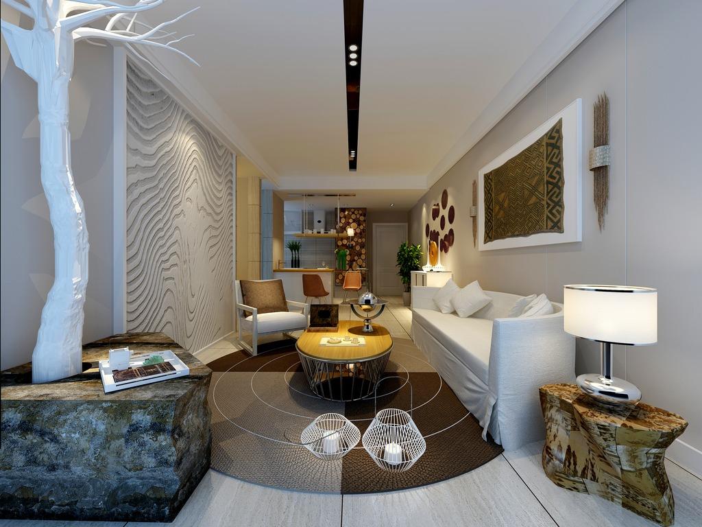 3dmax沙发效果图