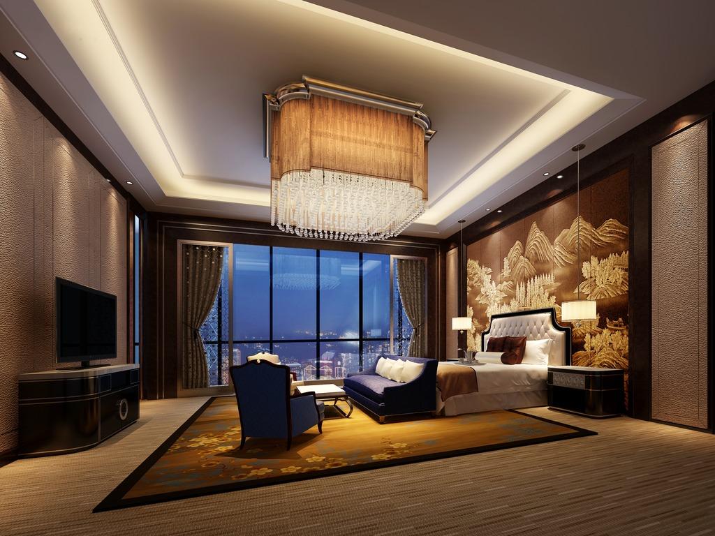 套房客厅3dmax模型素材图片下载图片