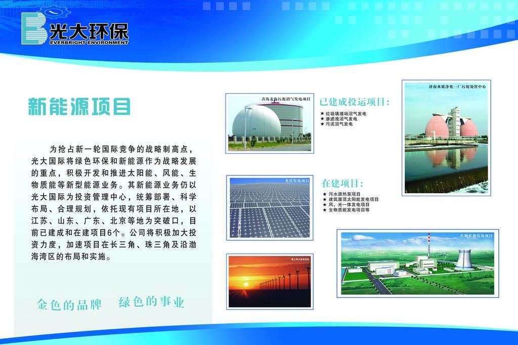 光伏发电企业系列展板宣传栏模板下载(图片编号:)