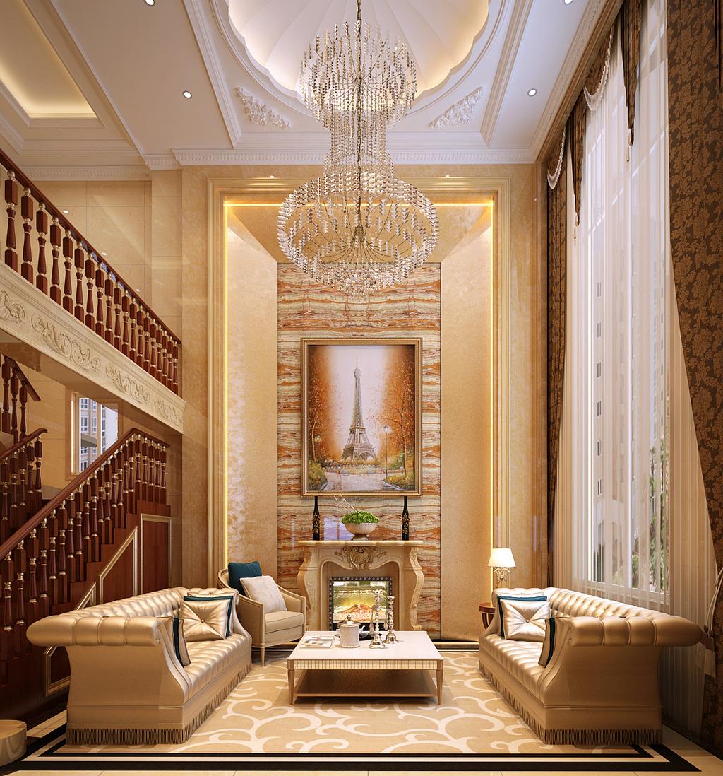 客厅模型 客厅效果图客厅装饰画欧式客厅客厅画装饰