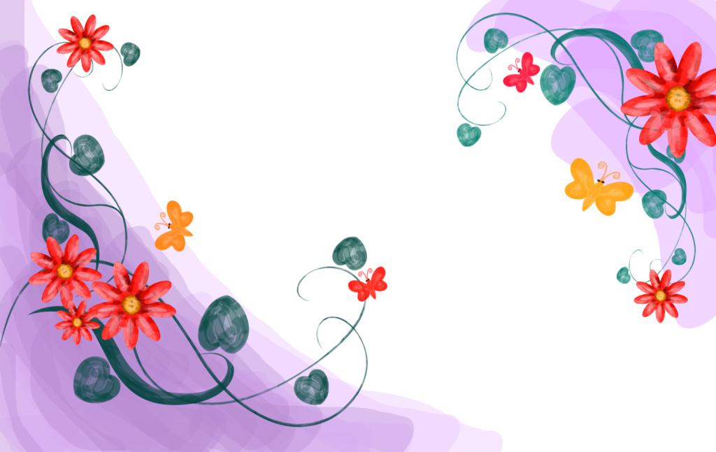 卡通葡萄树藤蔓