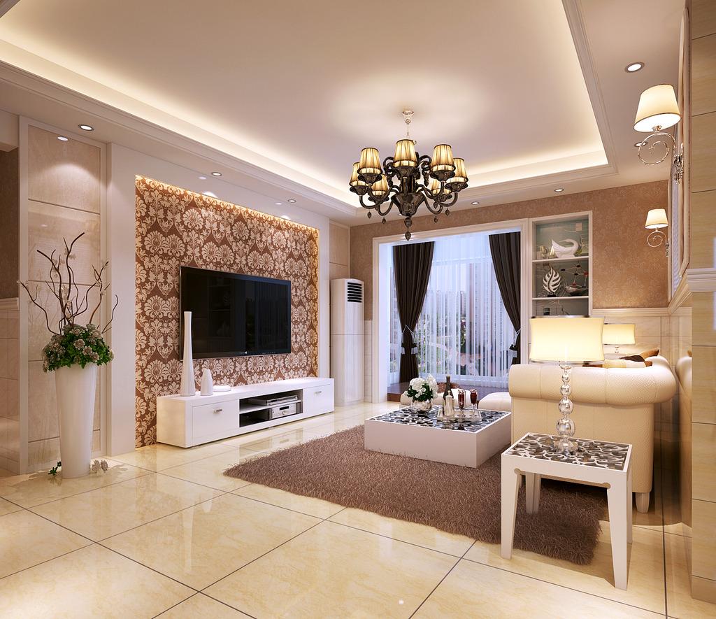 欧式风格客厅全套模型下载