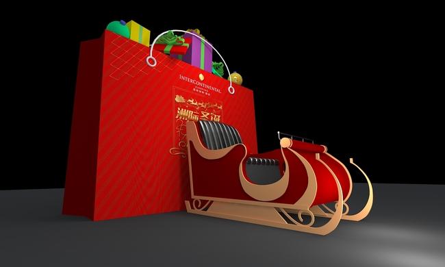 圣诞雪橇设计效果