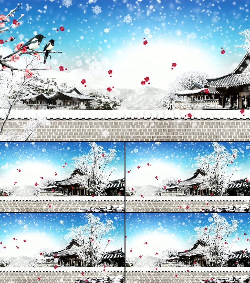 动态梅花雪景图片