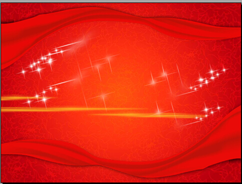 红色背景音乐喜庆ppt模板模板下载