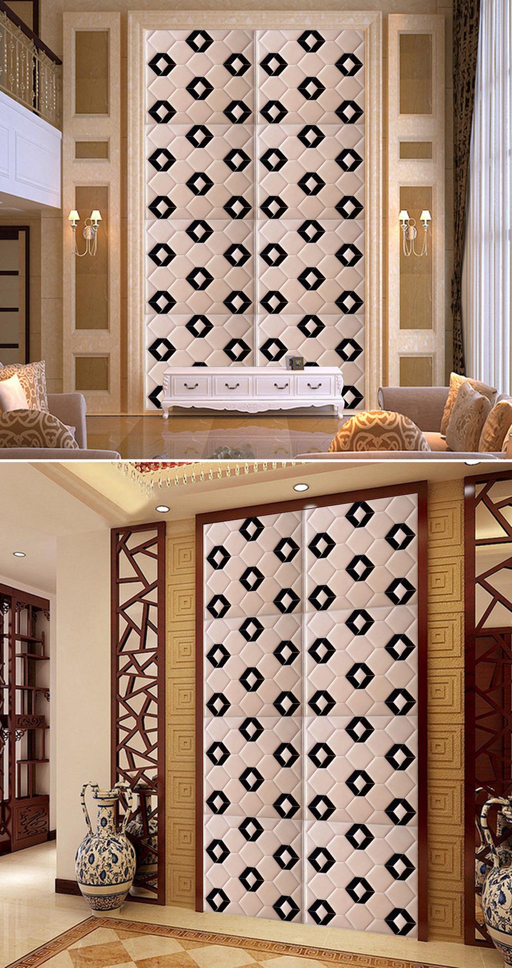 简约时尚欧式浮雕玄关壁画背景墙图库