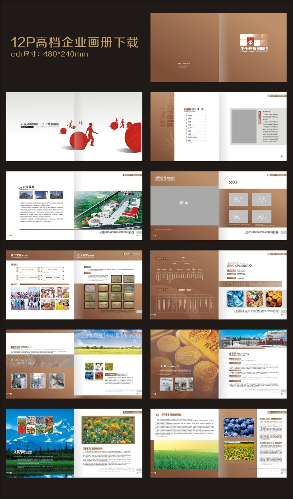 企业画册高清矢量模板