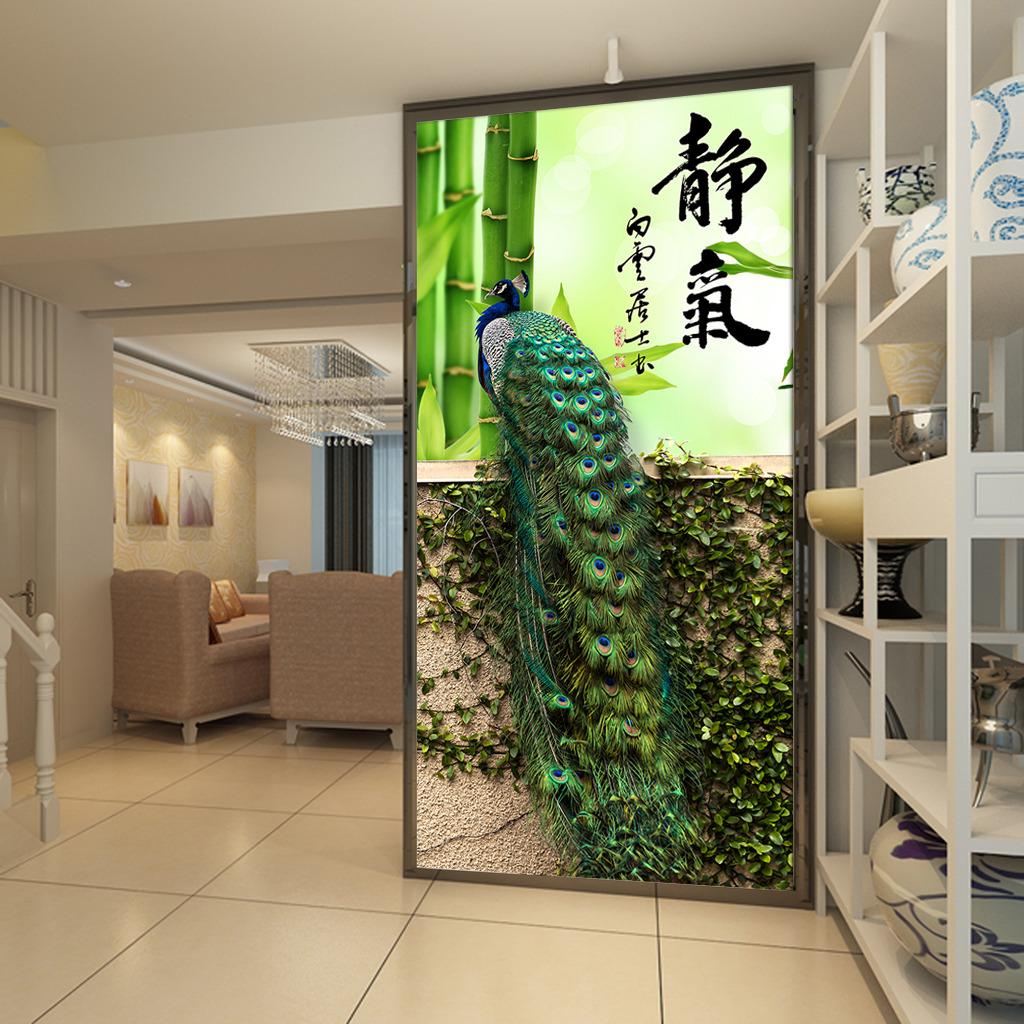 玄关装饰画 电视墙 形象墙 墙纸 壁纸 客厅 挂画 墙画 中式风格 中国