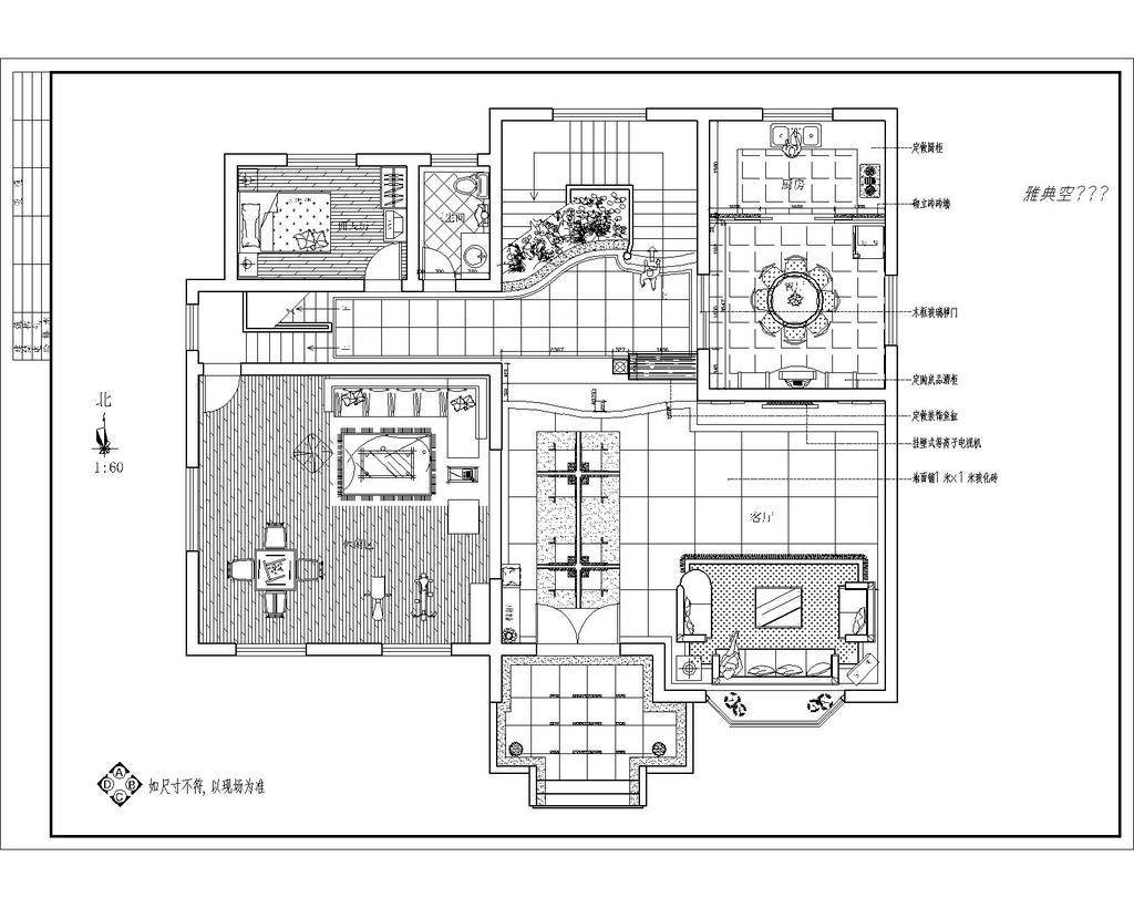 别墅装修设计图纸cad文件