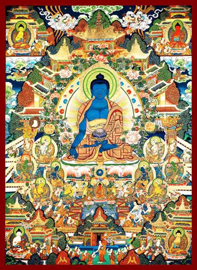 沙发背景墙 时尚 中国风 密宗 西藏 高清 文化艺术 宗教信仰 手绘唐卡