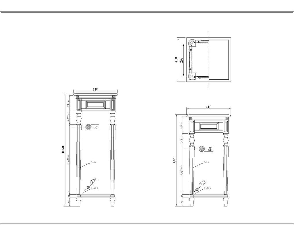 室内设计 cad图库 家具cad图纸 > 美式新古典全实木花架  下一张&nbsp