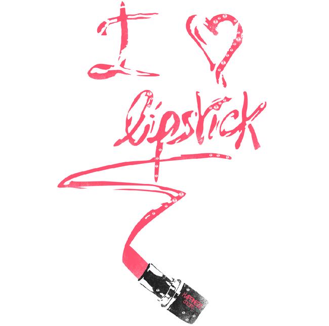 手绘素材唇膏图片下载印花图案印花图片t恤印花口红