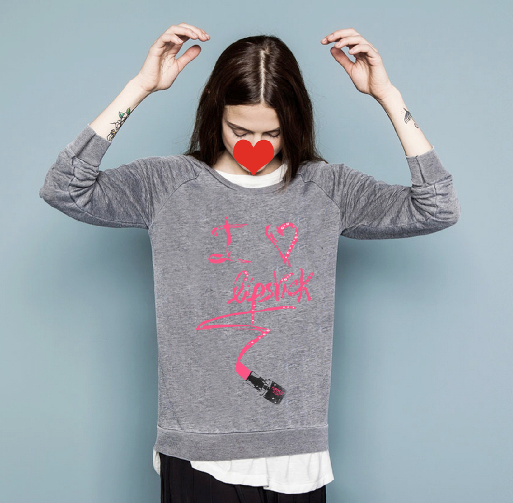 服装设计效果图款式图印花图案手绘素材唇膏