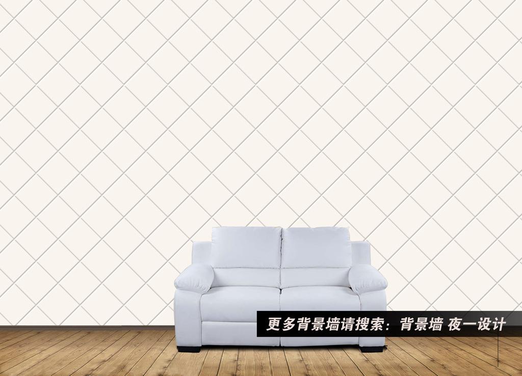银色方块欧式3d简约背景墙psd素材