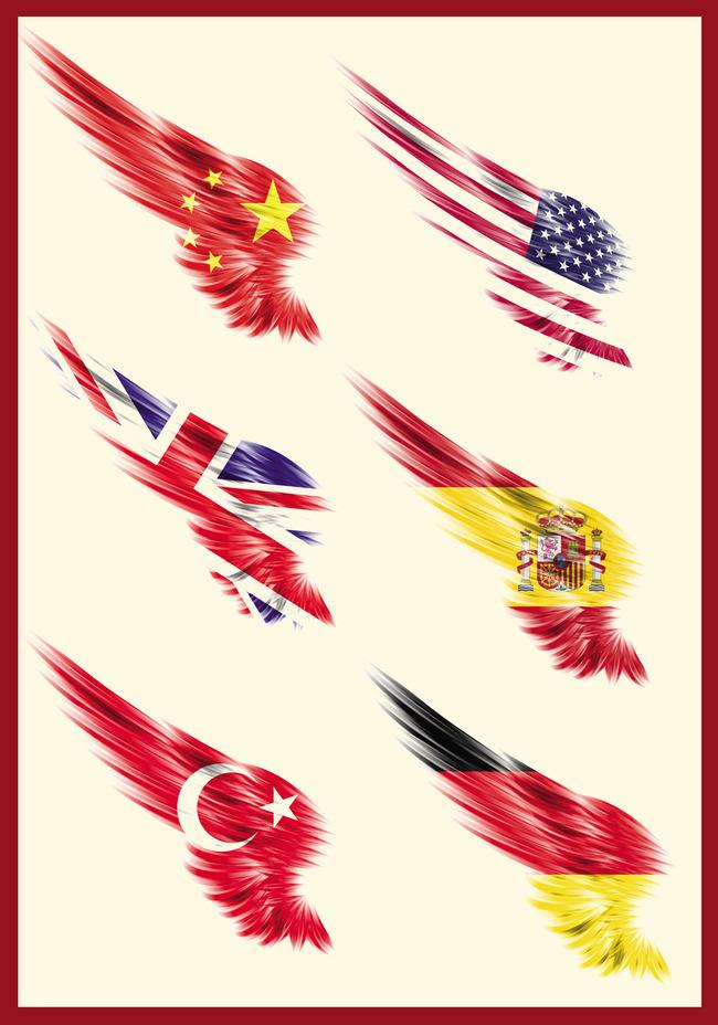 卡通国旗图片-一个漫画人物披着国旗_卡通国旗图片大全图片_幼儿园