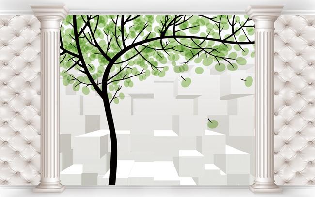 3d壁画手绘树高清图片下载(图片编号12726654)风景__.