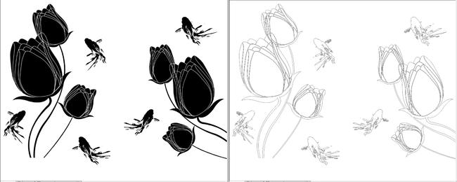 3d立体郁金香 时尚浮雕背景墙 立体郁金香 立体虞美人 时尚花朵3d花朵