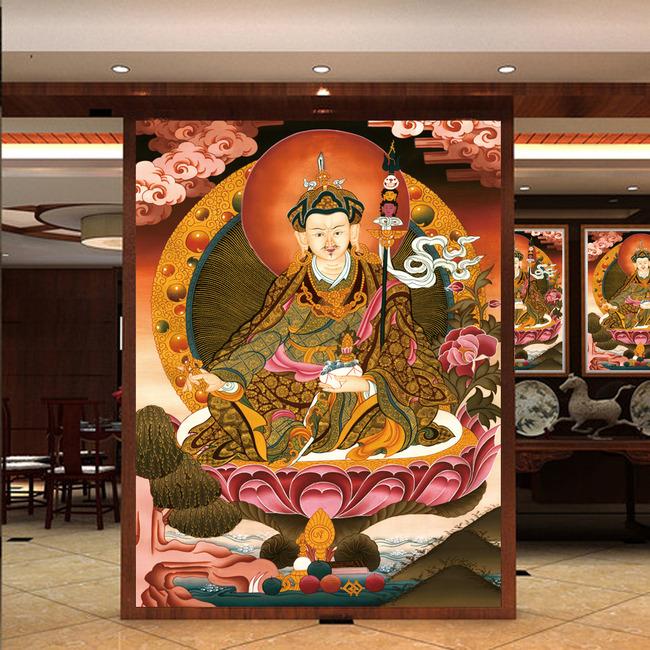 壁画,隔断,藏式,高清大图图片下载 藏式风格 唐卡壁画背景墙 吊顶电视图片