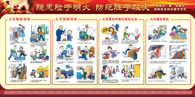 消防安全知识宣传展板