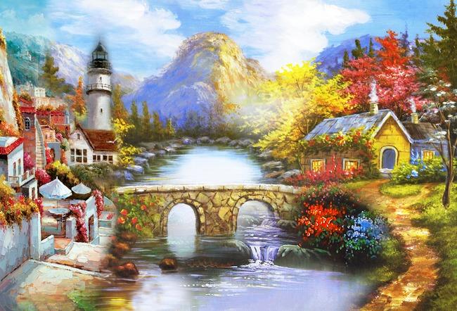 田园油画风景高清图片下载(图片编号12758122)风景