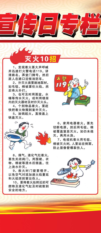 119消防宣传日展板