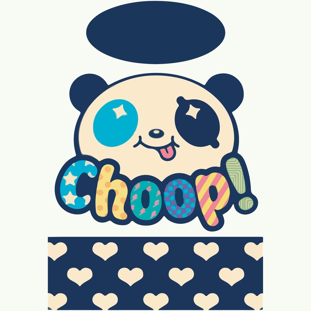 卡通熊猫印花图案可爱大熊猫图案