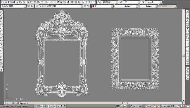 欧式镜框雕花镜框画框图集2014图片